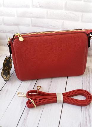 Кожаная еко сумка жіноча еко шкіряна сумочка клатч кожаный