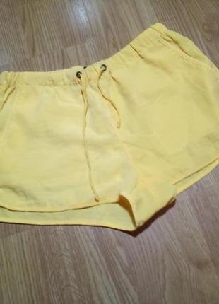 Пляжные шорты быстросохнущие женские пляж спорт яркие желтые xs