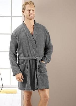 Мужской махровый халат 100% хлопок, miomare. размер m, евро 48-50