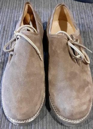 Стильні туфлі-мокасини , замша натуральна