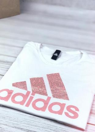Футболка хлопковая adidas text bos с большим лого