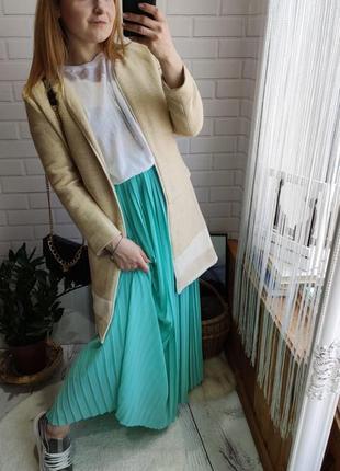 Кардиган пальто  zara, удлиненный пиджак