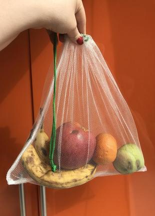 Эко мешочки торба торбинка фруктовка сетка для овощей