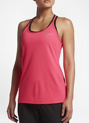 12-14 легкая спортивная майка для тренировок спинка сеткой оригинал nike dri-fit