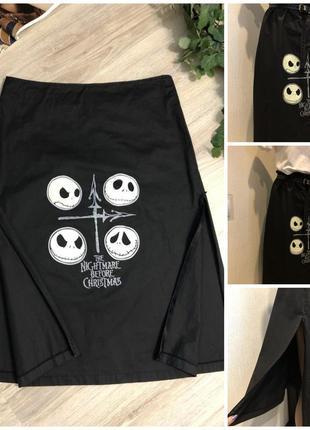 Стильная чёрная тонкая юбка трапеция