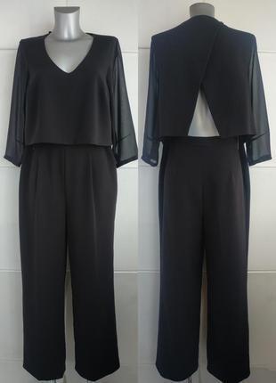 Стильный комбинезон с брюками madeleine черного цвета
