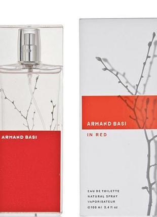 Женская туалетная вода armand basi in red 100мл стекло оаэ