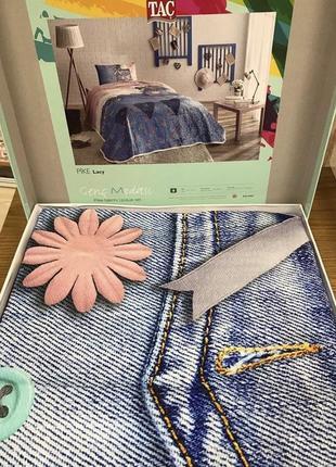 Постель пике tac lacy летняя полуторка простынь на резинке под джинс