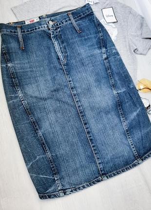Levi's джинсовая юбка миди оригинал