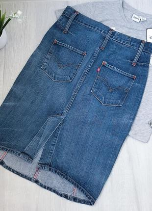 Levi's джинсовая юбка миди оригинал5 фото