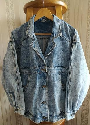 Винтажная женская джинсовая куртка