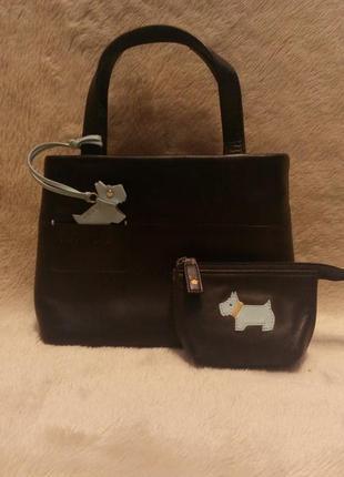 Маленькая кожаная  сумка+ключник radley