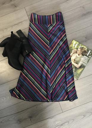 Сатиновая юбка_атласная красивая юбка