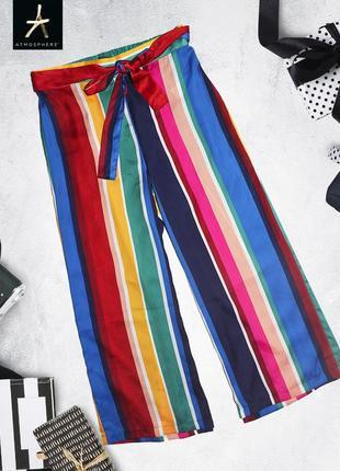 Новые полосатые штаны кюлоты в пижамном стиле primark