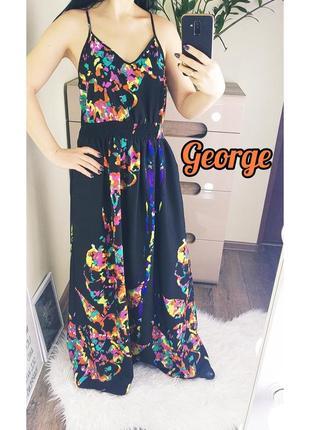 George 12/40/l легкое невесомое платье/сарафан с яркими красками