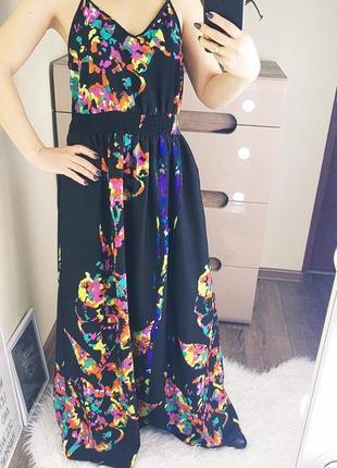 George 12/40/l легкое невесомое платье/сарафан с яркими красками2 фото