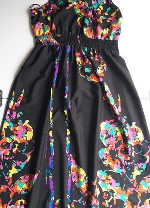 George 12/40/l легкое невесомое платье/сарафан с яркими красками4 фото