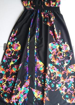 George 12/40/l легкое невесомое платье/сарафан с яркими красками5 фото