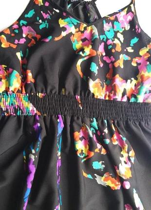 George 12/40/l легкое невесомое платье/сарафан с яркими красками6 фото