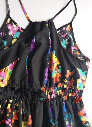 George 12/40/l легкое невесомое платье/сарафан с яркими красками7 фото
