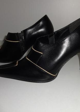 Бесплатная доставка натуральная кожа 38р туфли на устойчивом каблуке, распродажа