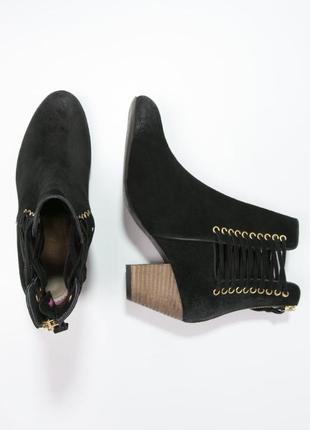 Superdry ботинки ботильоны казаки натуральная замша