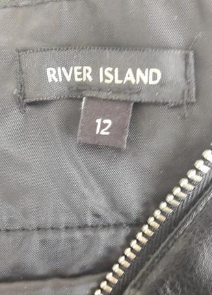Стильная кожаная юбка river island7 фото
