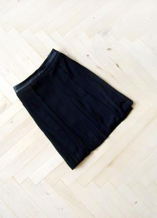 Черная мини юбка zara woman