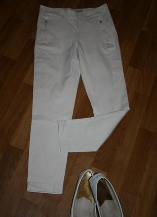 Стильные элегантные брюки-скини-лосины приятного бежевого оттенка