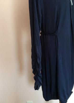 Темно синий длинный кардиган/xl/ brend etam5 фото