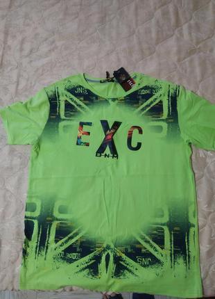 Мужская футболка салатовая мятная exc