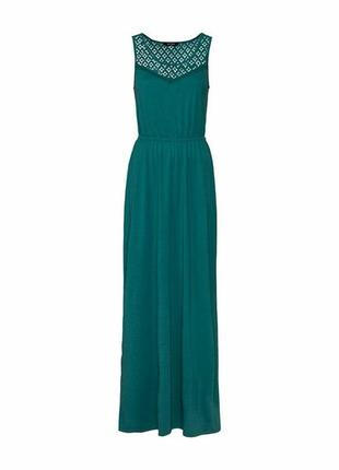 Бирюзовое платье в пол, макси сарафан s 36-38 esmara, германия