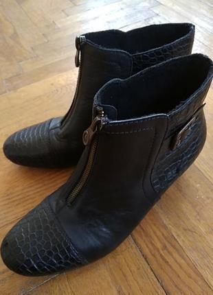 Сапожки, чобітки rieker шкіра1 фото