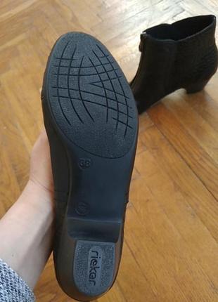 Сапожки, чобітки rieker шкіра2 фото