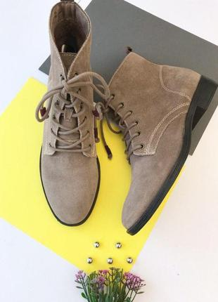 Замшевые демисезонные ботинки tamaris