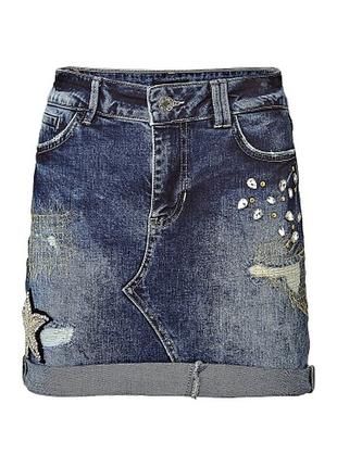 Джинсовая юбка guess,p.xxs3 фото