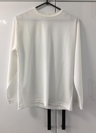 Белоснежный мужской термо лонгслив thermal vest long sleeve cooldry размер м-л