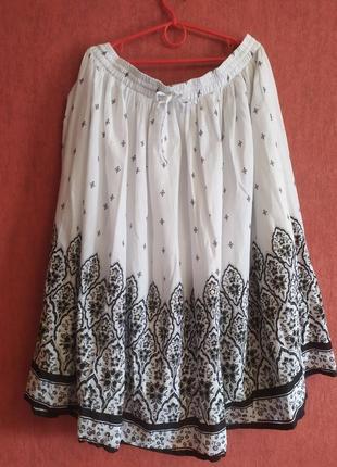 Шикарная юбка в черно-белом цвете от bm casual