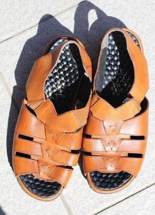 Комфортные кожаные сандалии, босоножки rieker antistress 37-38