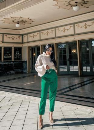 Стильные брюки с высокой талией h&m,p.s-m