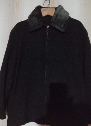 Шерстяное пальто пиджак на молнии