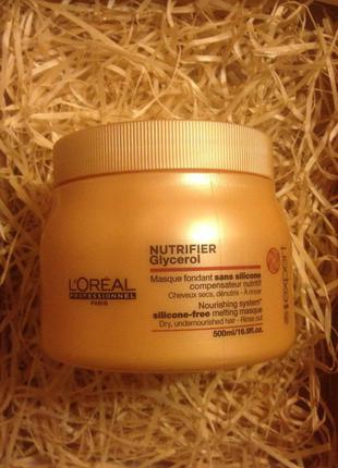 Маска для сухих и ломких волос супер-серия l'oreal professionnel nutrifier masque розлив!