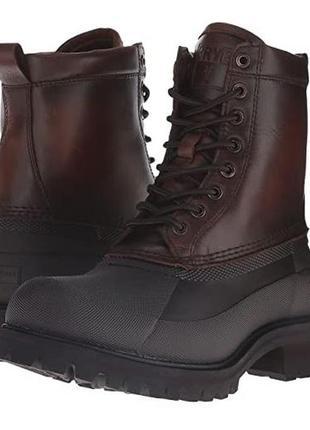 Frye ботинки сапоги кожаные на овчине