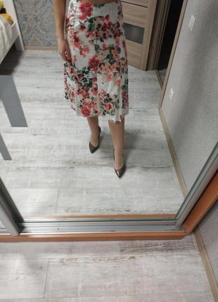 Красивая летняя юбка миди хлопок