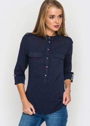 Стильная женская блуза с погонами esmara германия, блузка рубашка