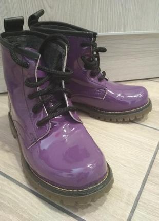 Ботинки лакированные кожа