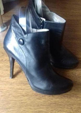 Рр 39-25,5 см стильные полу сапоги ботинки varese кожа