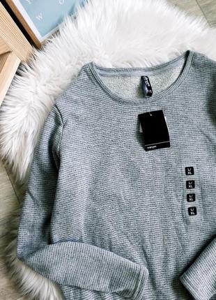 Крутой серый свитшот двунить в мелкую полоску2 фото