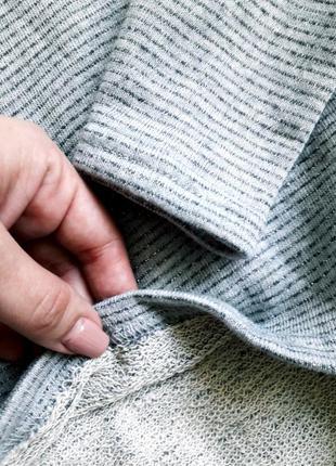 Крутой серый свитшот двунить в мелкую полоску4 фото