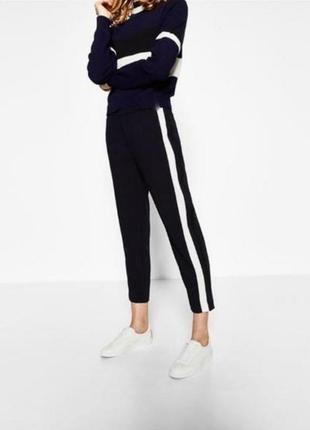 Брендовые топовые базовые штаны брюки джоггеры с лампасами casual